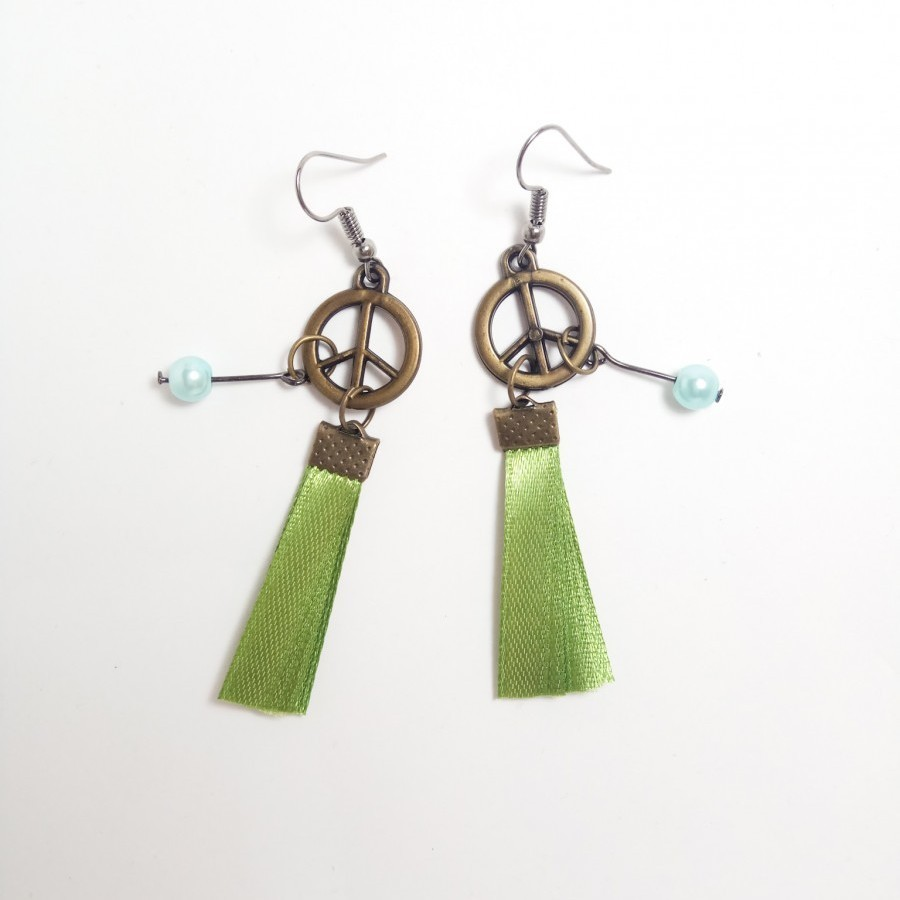 Peace 004 Earring Anting Handmade