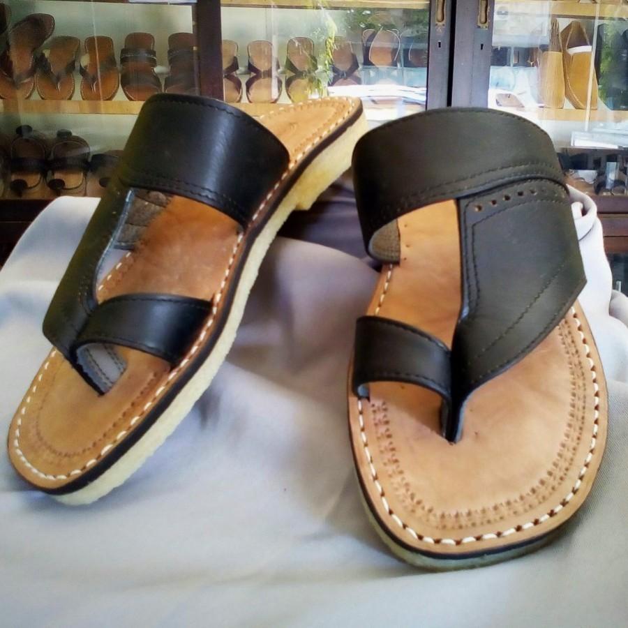Sandal selop pria kulit