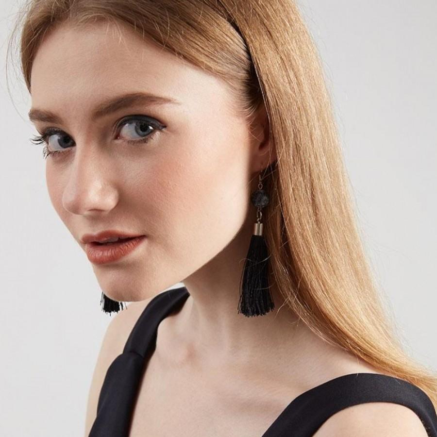 Ethe Earring (Hitam/Putih/Abu)