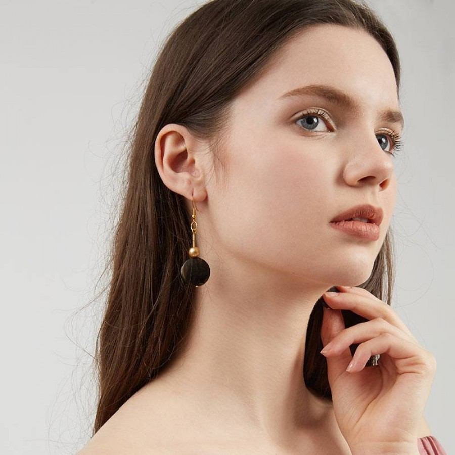 Finn Earrings Black