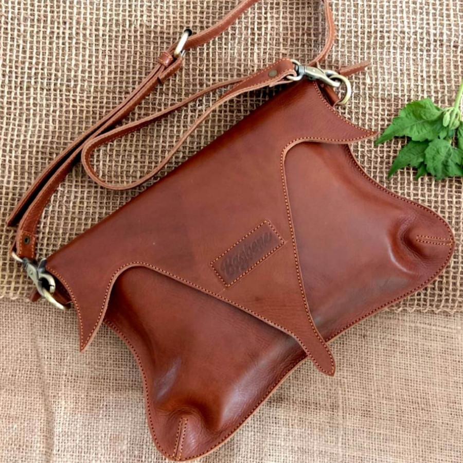 Magenta - clutch bag kulit