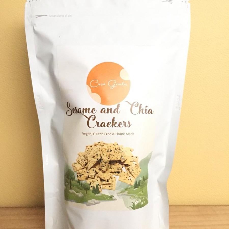 Sesame and Chia Crackers