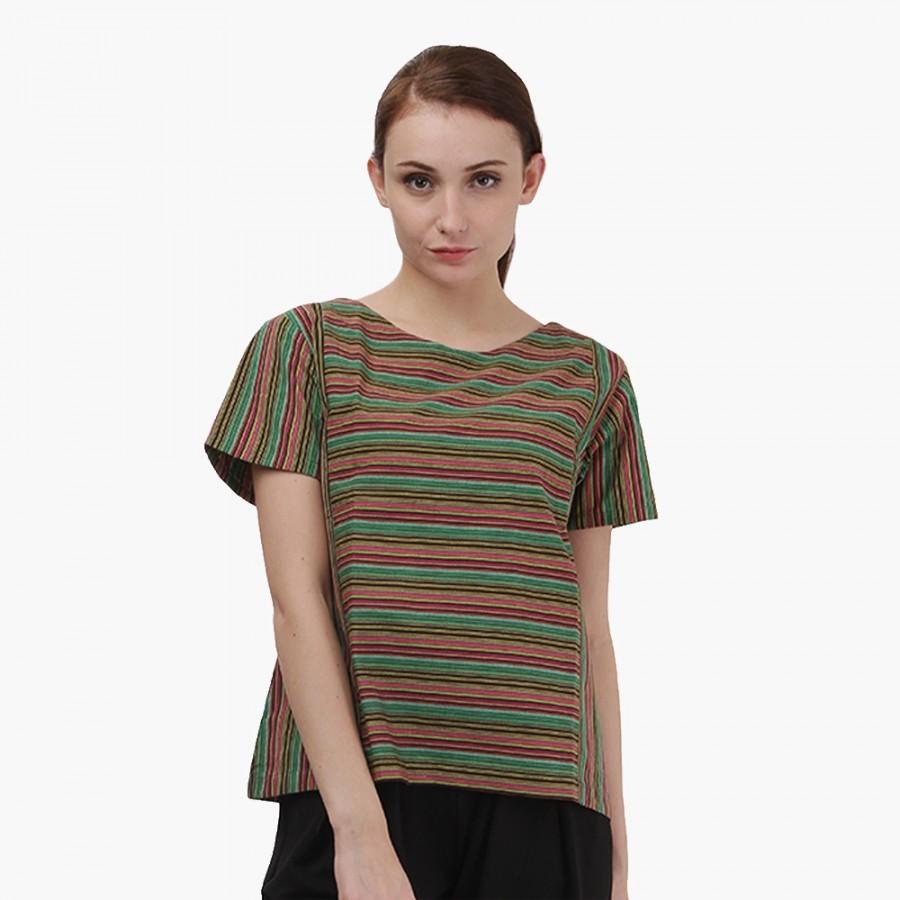 Batik Dirga Blusha Atasan Wanita / Blouse Lurik