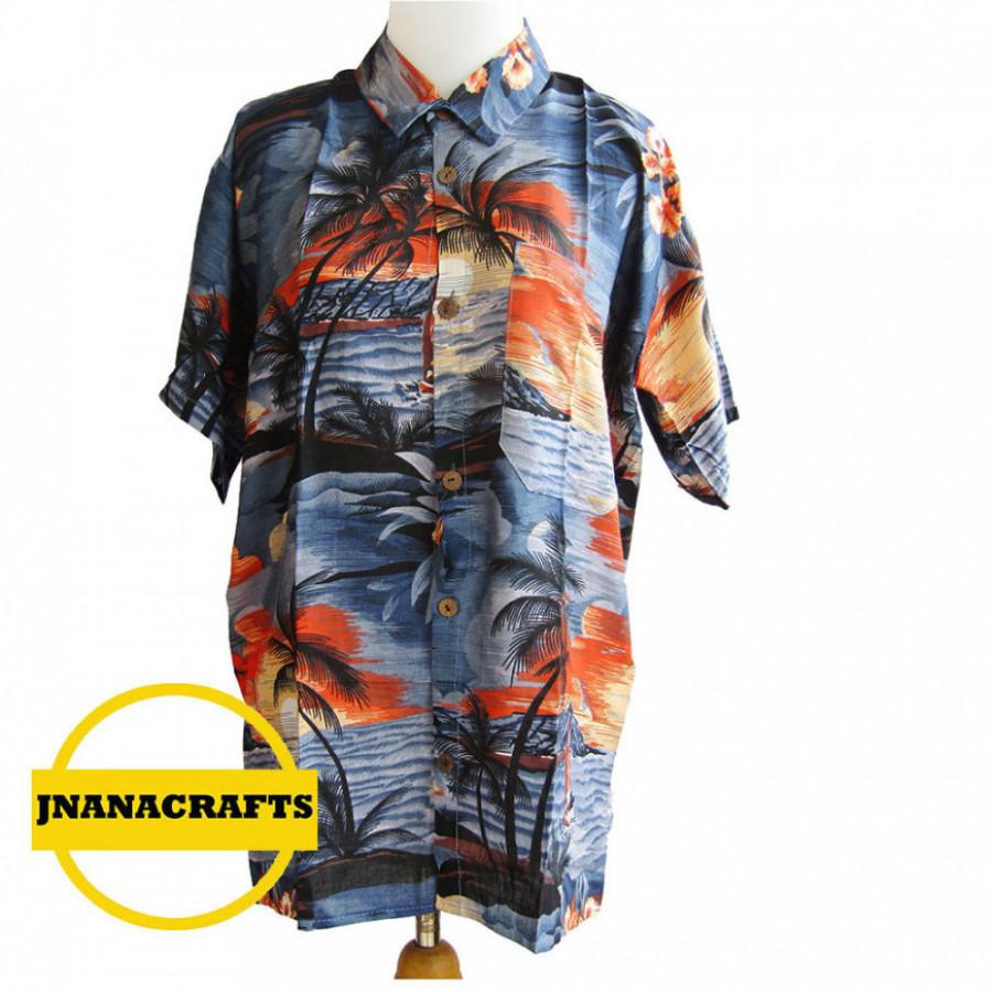 Kemeja pantai motif Hawai Bali XL