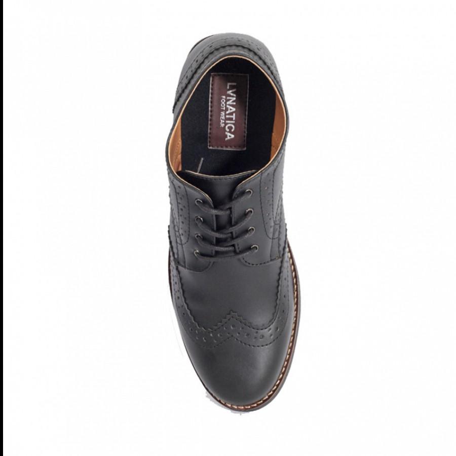 Lvnatica Sepatu Pria Pantofel Alpha Black Formal Shoes