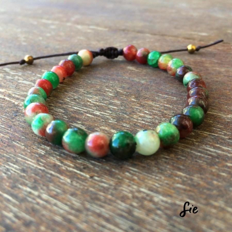 Gelang Tali Batu Brown Jade
