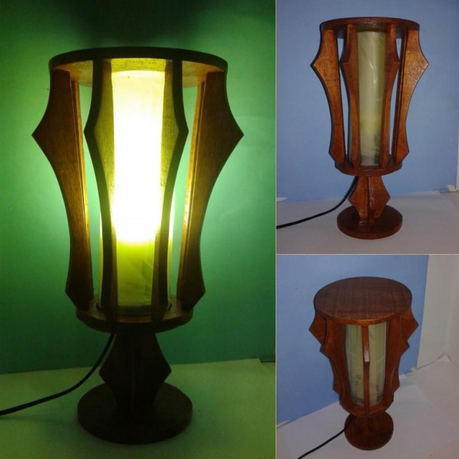 Lampu Hias / Lampu Meja / Lampu BULAT Warna KUNING / Omah Lampu Rawalo