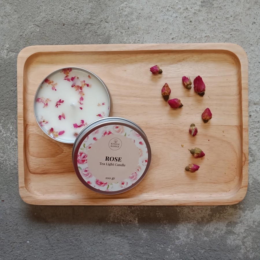 Aromatherapy Candle - Lilin Aromaterapi - Tea Light Candle (Rose)