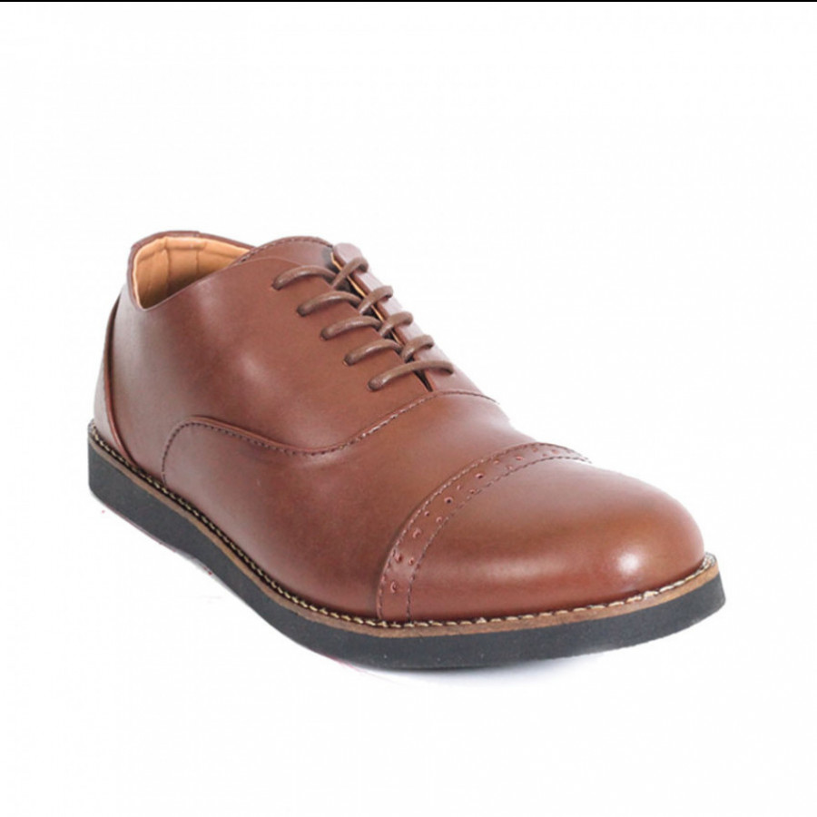 Lvnatica Sepatu Pria Pantofel Oxford Brown Formal Shoes