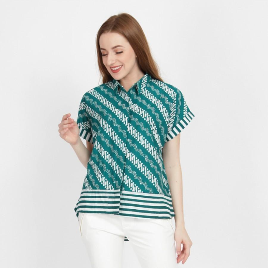 Batik Dirga Keblak Atasan Wanita / Kemeja Batik