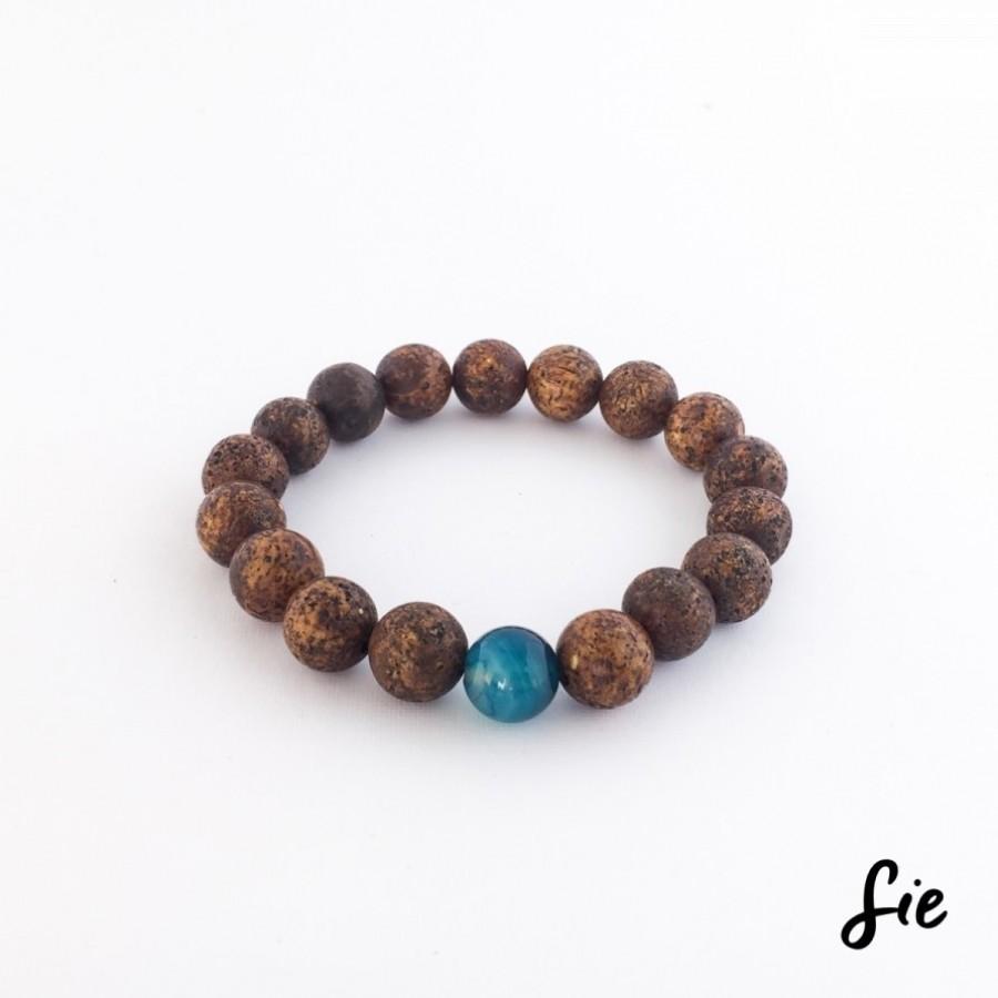 Gelang Batu Simple Brown Agate