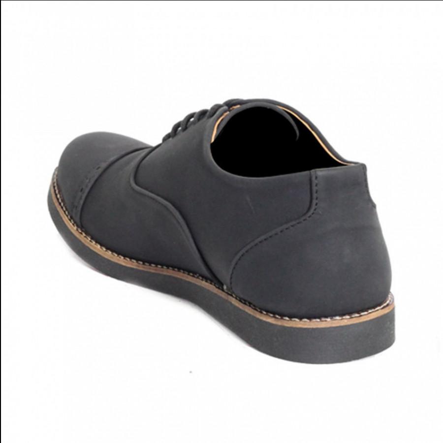 Lvnatica Sepatu Pria Pantofel Oxford Black Formal Shoes