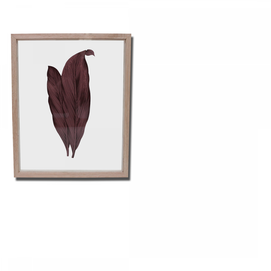 Acrylic Wall Gambar Daun Coklat