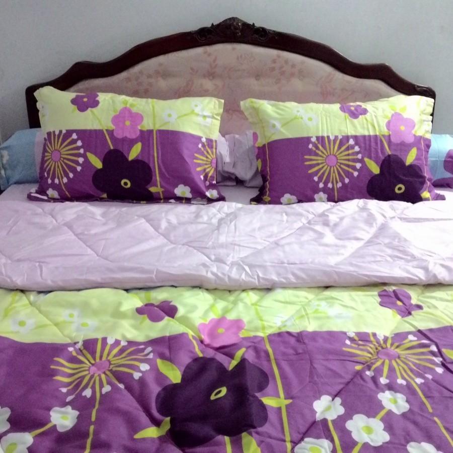 Bedcover set Rosalia Flower 02 - Kuning uk.200