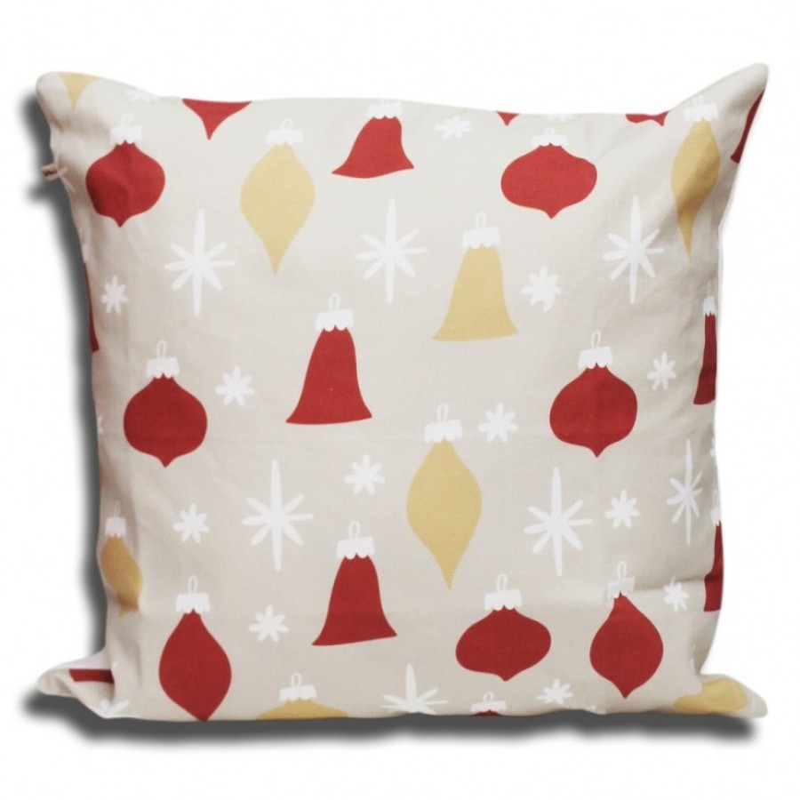 Cotton Canvas Cushion Cover Hiasan Natal - Bel