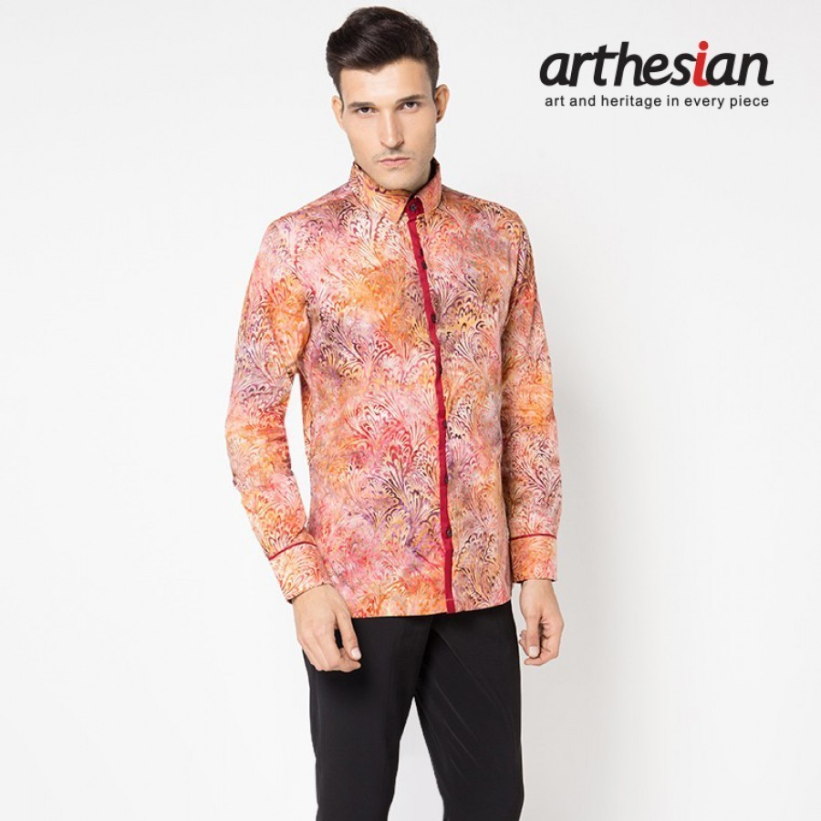 [Arthesian] Kemeja Batik Pria - Bouket Marbell Batik Cap