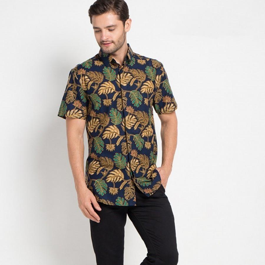[Arthesian] Kemeja Batik Pria - Breadfruit Leaf Batik Printing