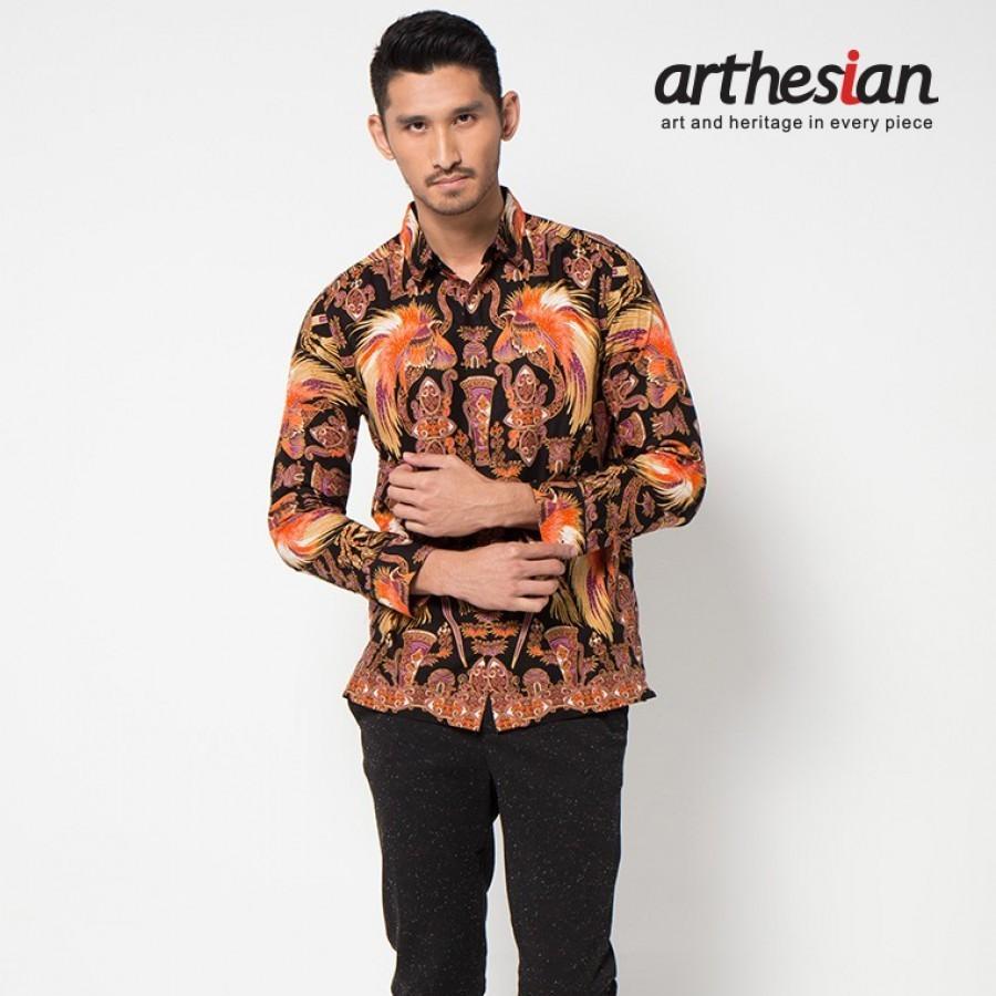 [Arthesian] Kemeja Batik Pria - Cendrawasih Batik Printing