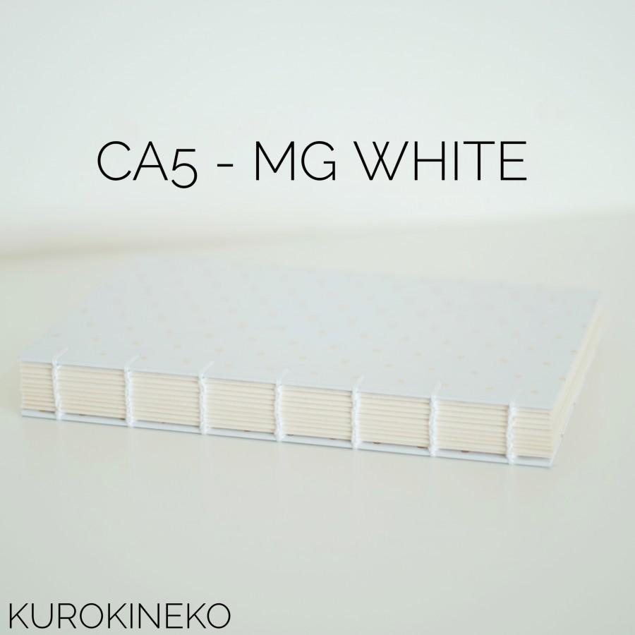 Handmade Notebook A5 - WHITE (Coptic Stitch Binding)