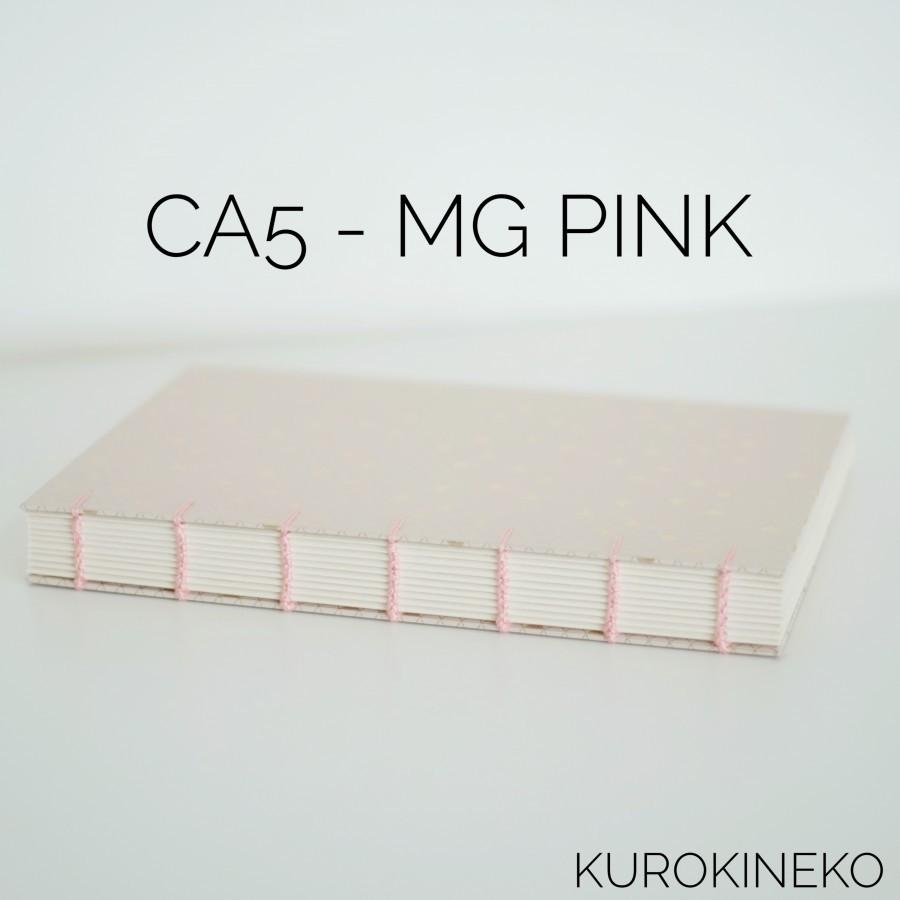 Handmade Notebook A5 - PINK (Coptic Stitch Binding)