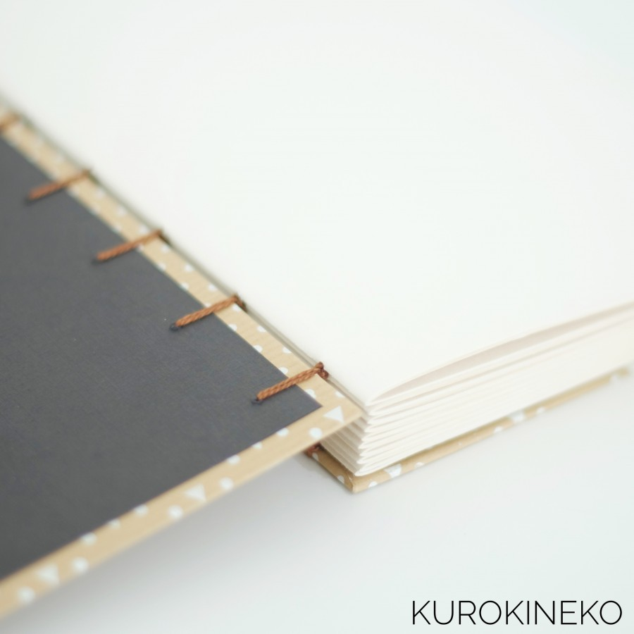 Handmade Notebook A5 - BROWN (Coptic Stitch Binding)