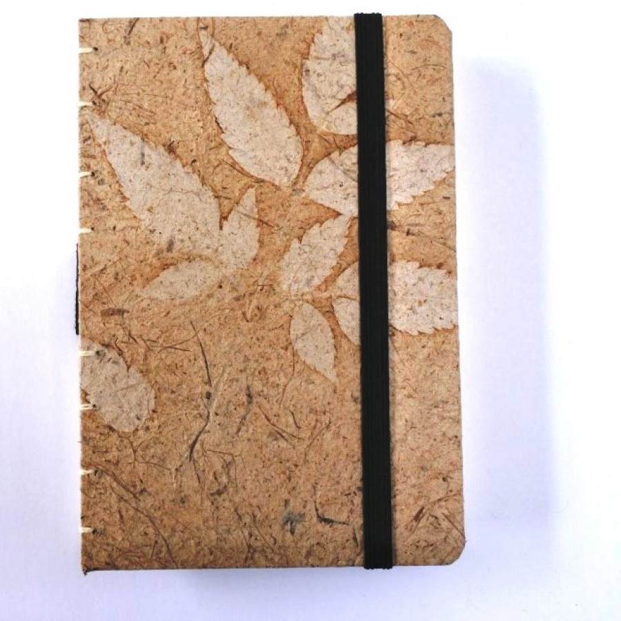 Handmade Journal Sketchbook recycle paper motif daun
