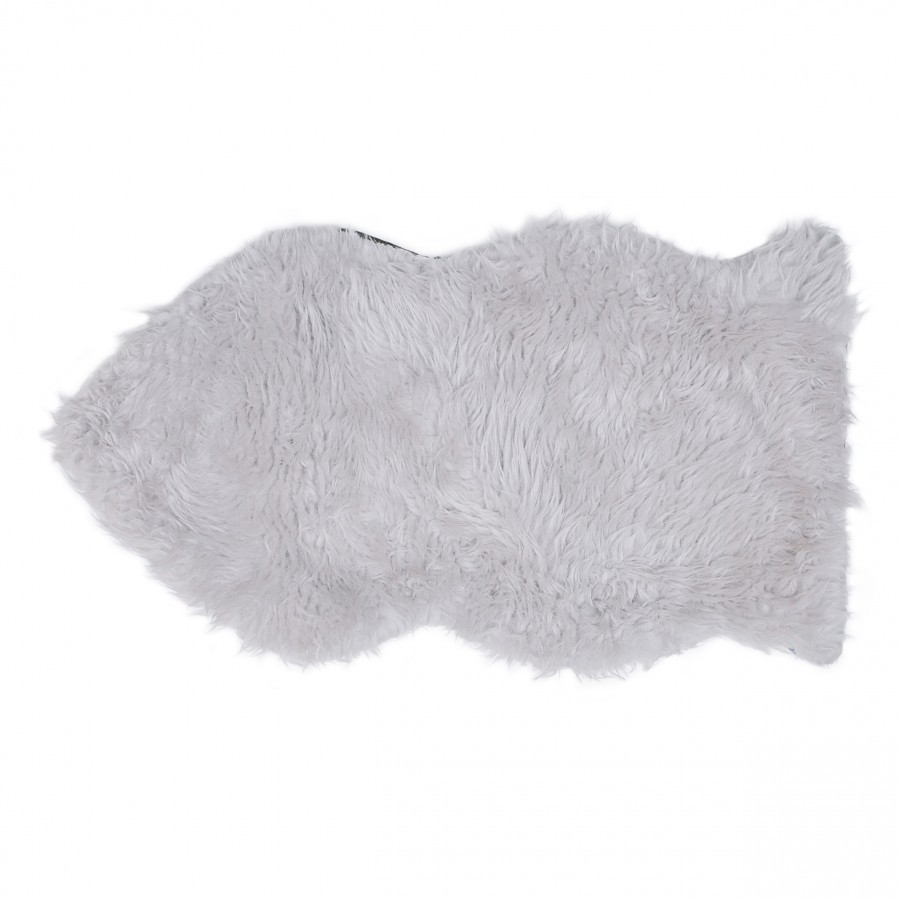 Fish Light Grey Fur Rug 90 x 60