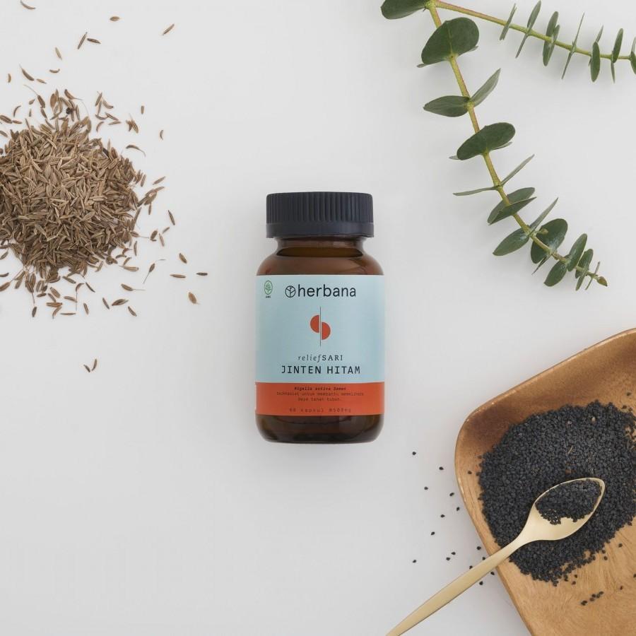 Herbana Relief Sari Jinten Hitam - 60 Kapsul