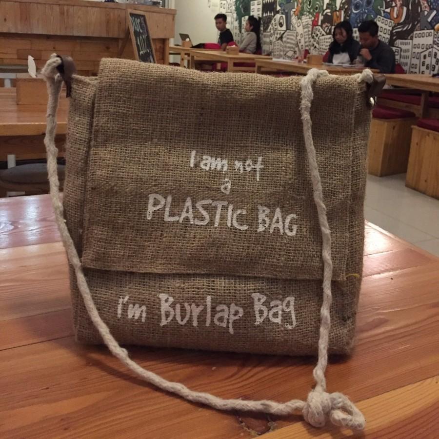 I'm Burlap Bag (Sling Bag)