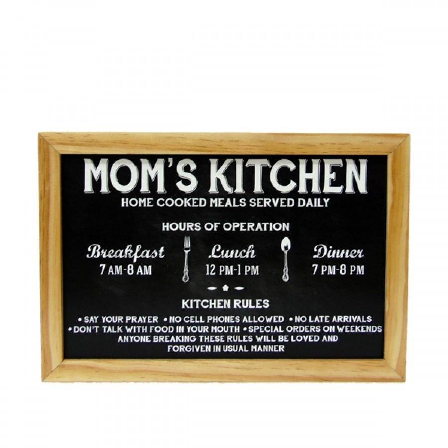Hiasan Dinding Dapur Popliving Moms Kitchen Hitam