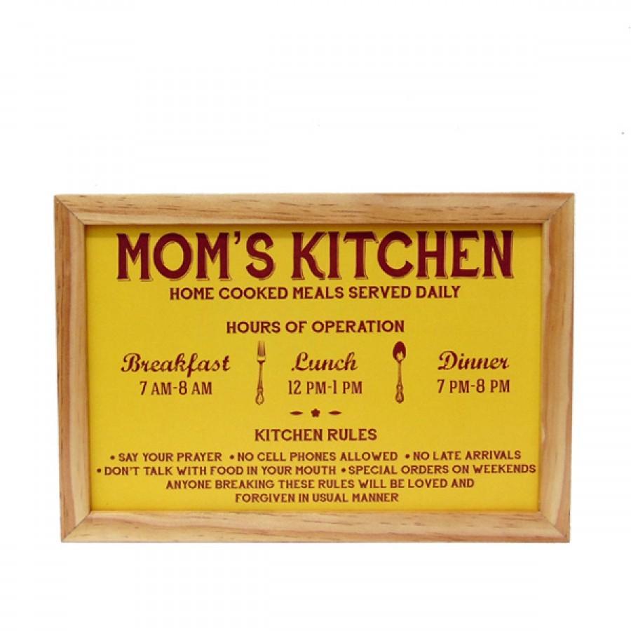 Hiasan Dinding Dapur Popliving Moms Kitchen Kuning