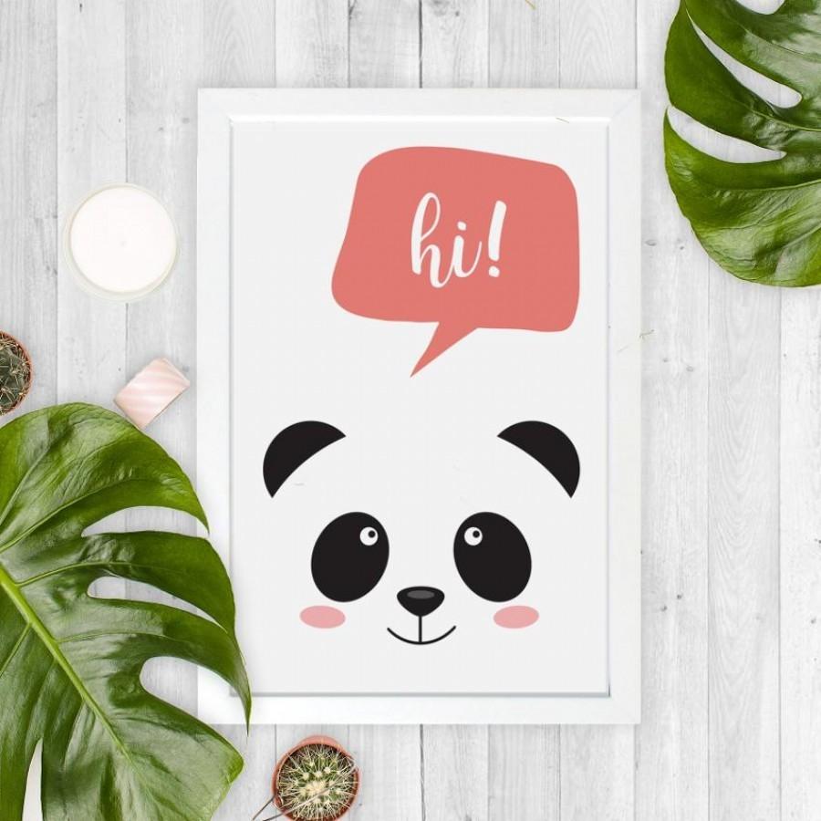 Miss Panda 30x40cm Wall Decor Hiasan Dinding dan Meja