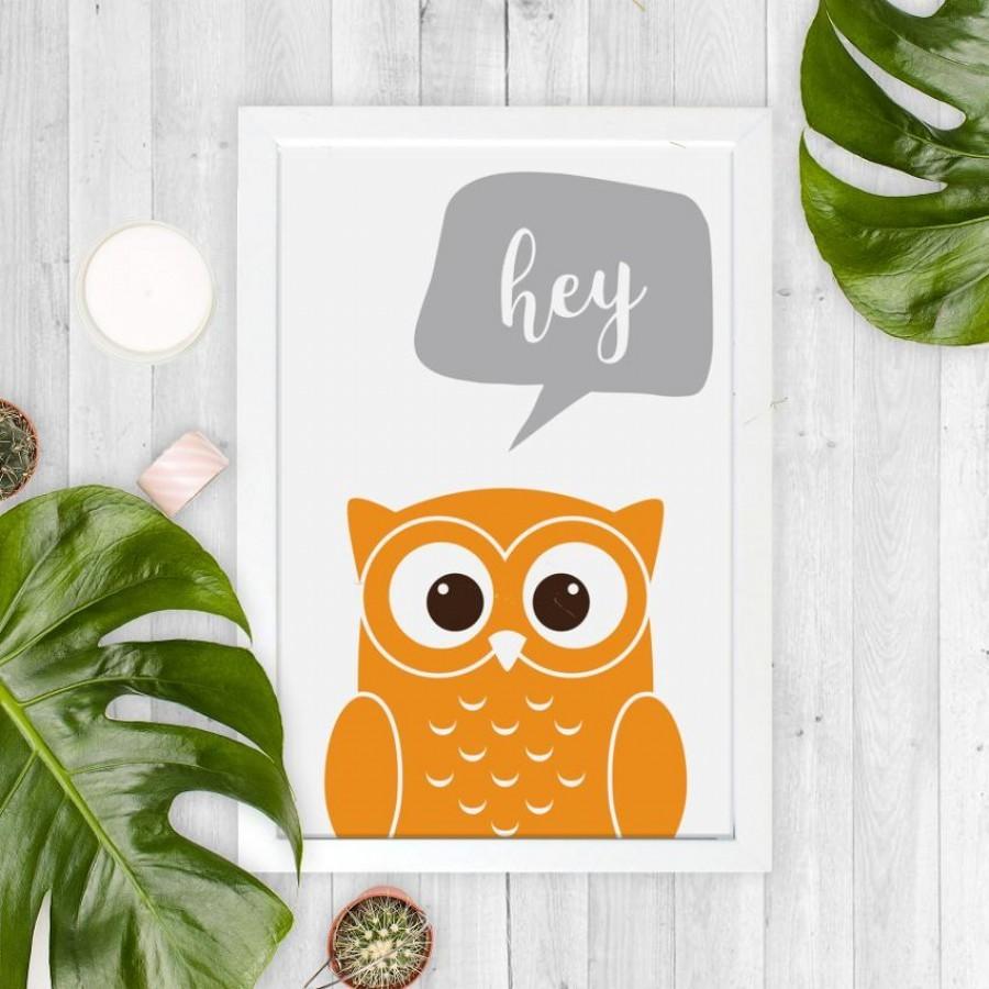 Mr. Owl 20x30cm Wall Decor Hiasan Dinding dan Meja