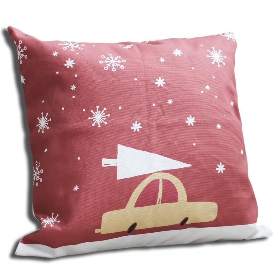Cotton Canvas Cushion Cover Mobil