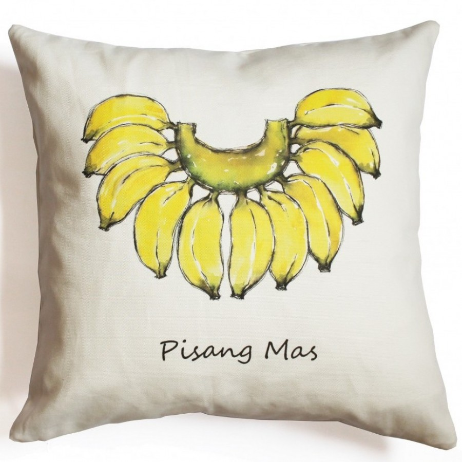 Cotton Canvas Cushion Cover Pisang Mas