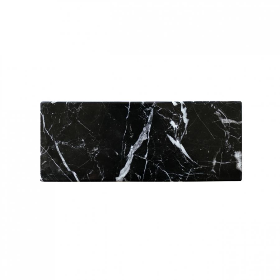 Miter Black Zircon Marble 25 x 10
