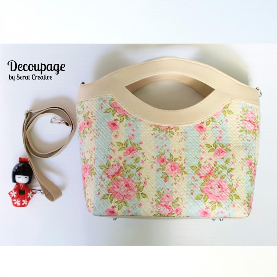 Tote Bag Decoupage - Broken White I