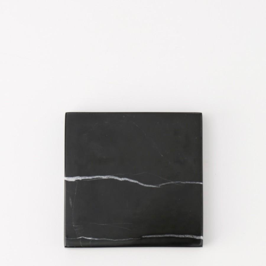 Square Black Zircon Marble D20