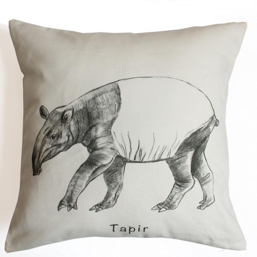 Cotton Canvas Cushion Cover Tapir
