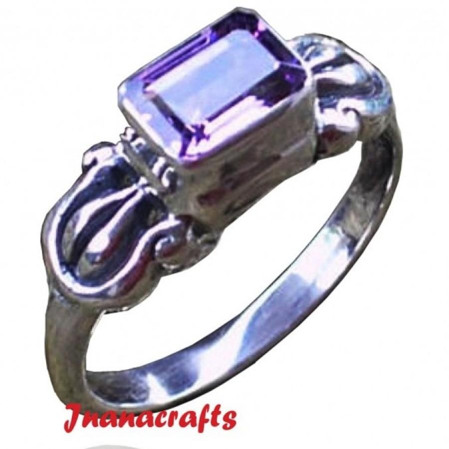 Cincin Perak Batu Amethys
