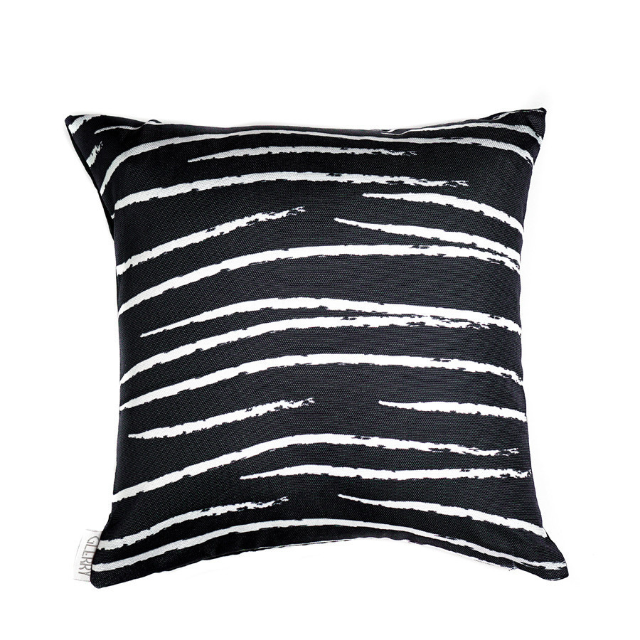 Black Lines Cushion 40 x 40