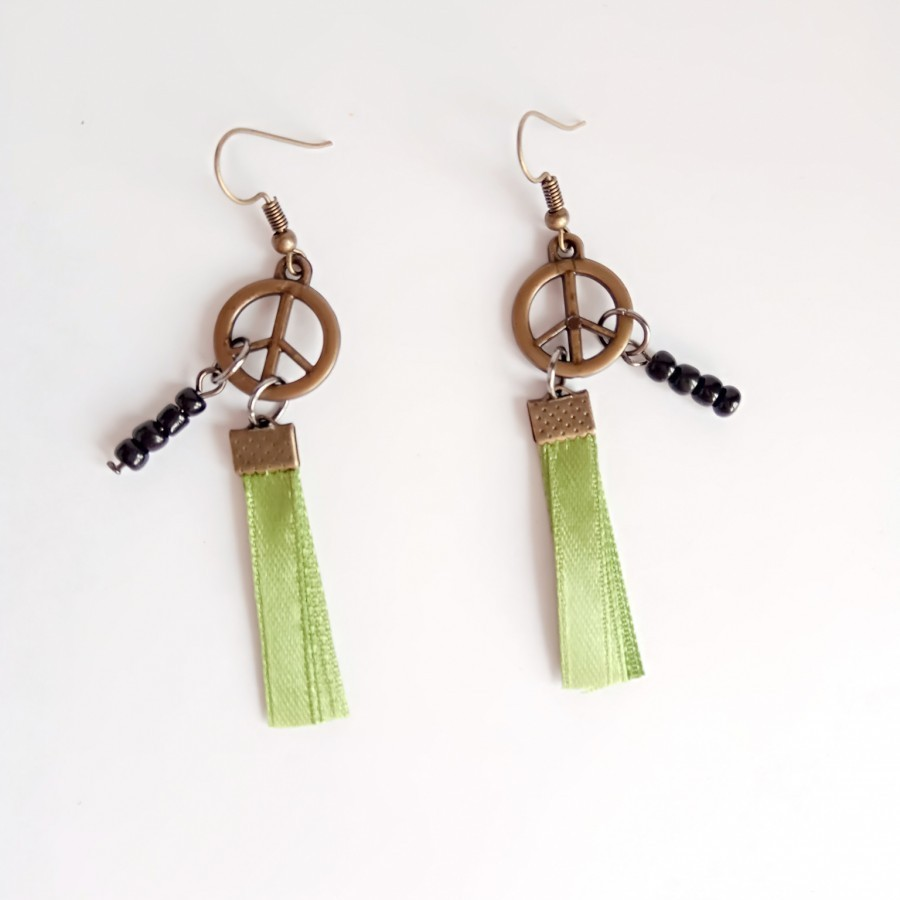 Peace 001 Earring Anting Handmade