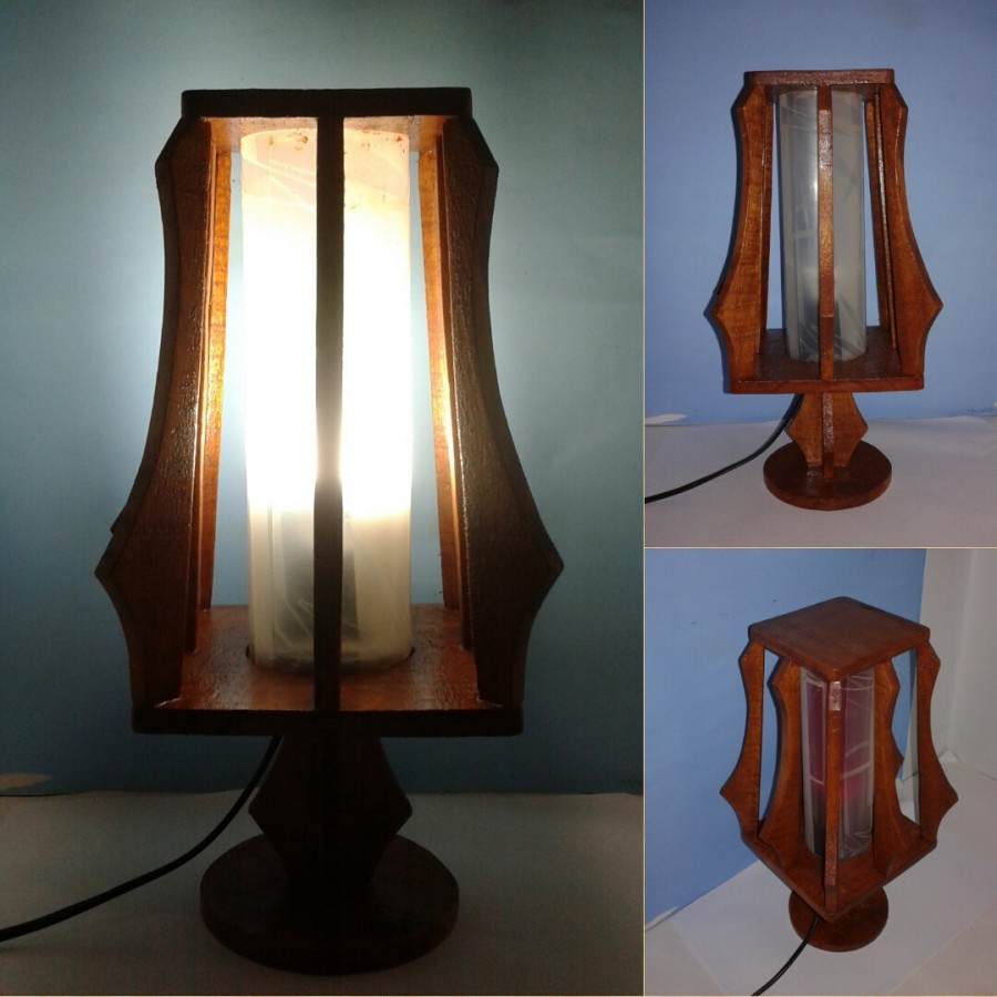 Lampu Meja / Lampu Hias / Lampu KOTAK Variant Warna PUTIH / Omah Lampu Rawalo