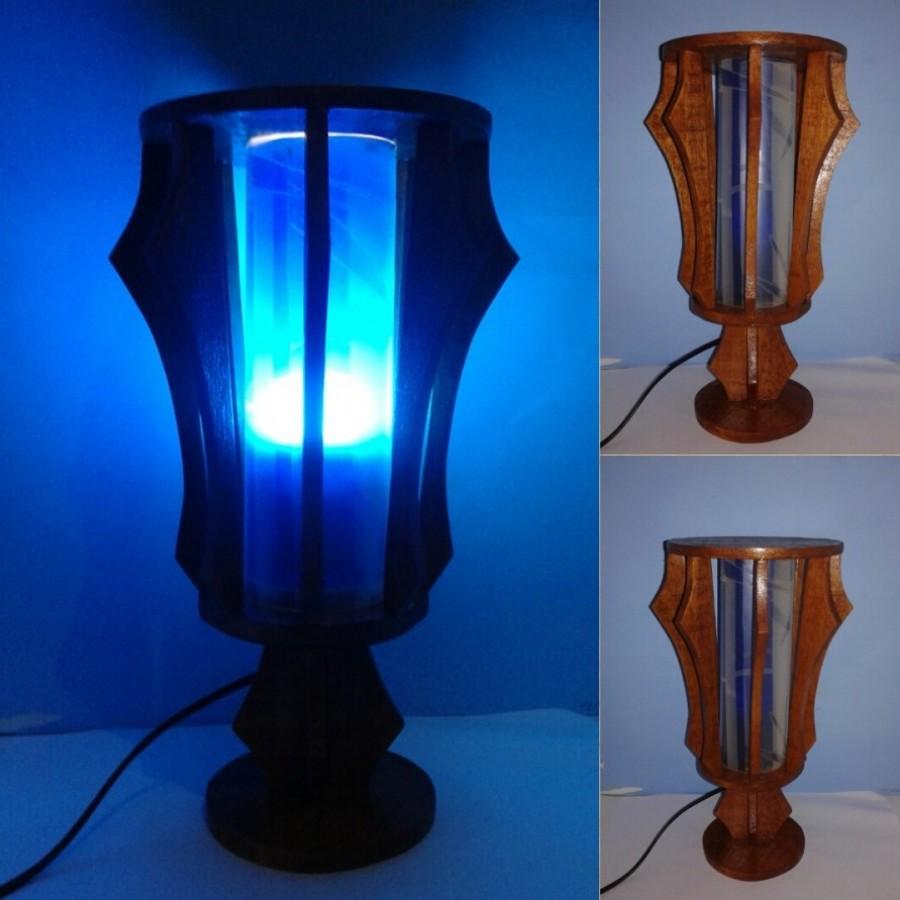 Lampu Hias / Lampu Meja / Lampu BULAT Warna BIRU / Omah Lampu Rawalo