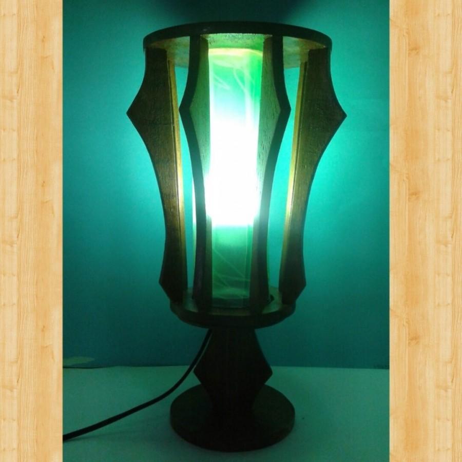 Lampu Tidur Hias / Lampu Meja / Lampu BULAT Warna HIJAU / Omah Lampu Rawalo