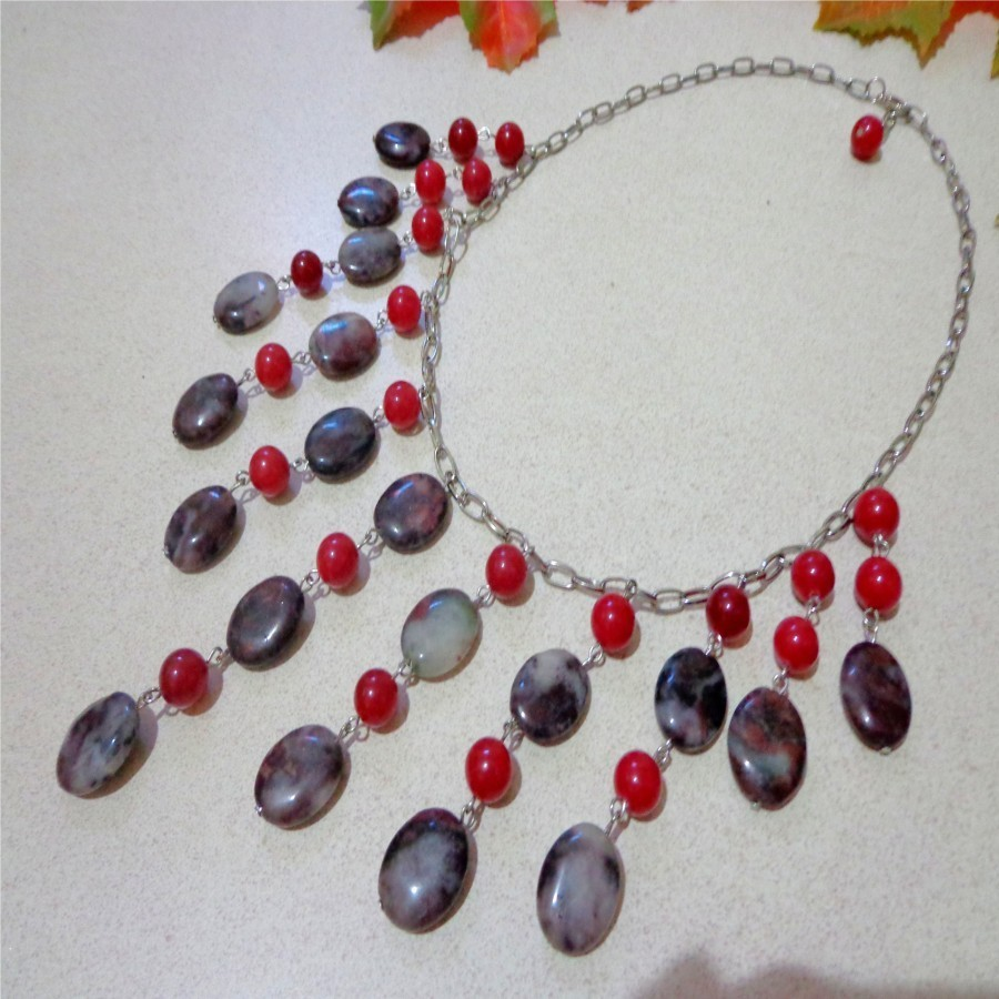 Kalung B030 Batu Red Carnelian, Blood Stone