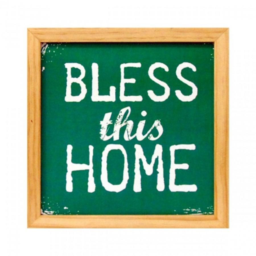 Hiasan Dinding Popliving Bless This Home Hijau