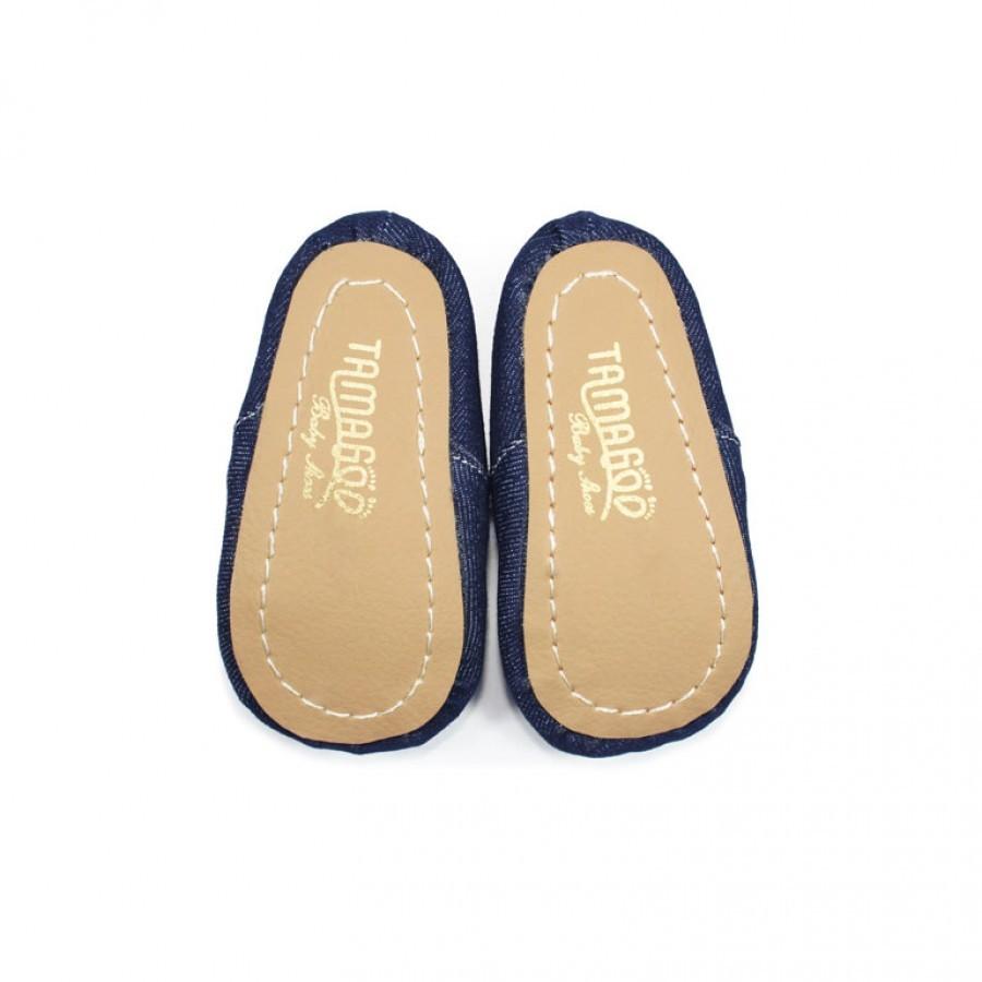 Tamagoo Sepatu Bayi Laki Baby Boy Prewalker David Brown Shoes Alex Series  3 6 Bulan Abu Muda Denim Murah