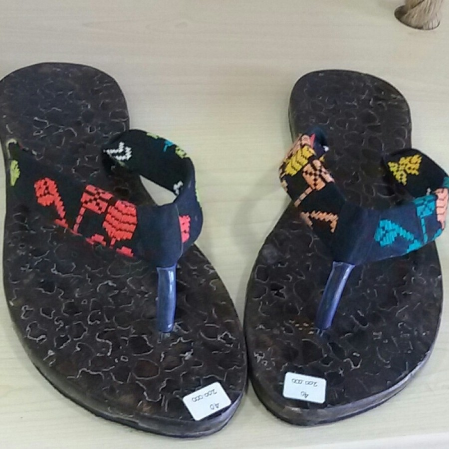 Sandal Songket Black and Motif No. 40
