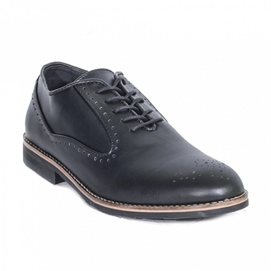 Lvnatica Sepatu Pria Pantofel Cerberus Black Dress Shoes